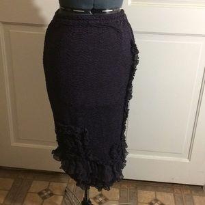 Dresses & Skirts - purple ruffle design skirt!